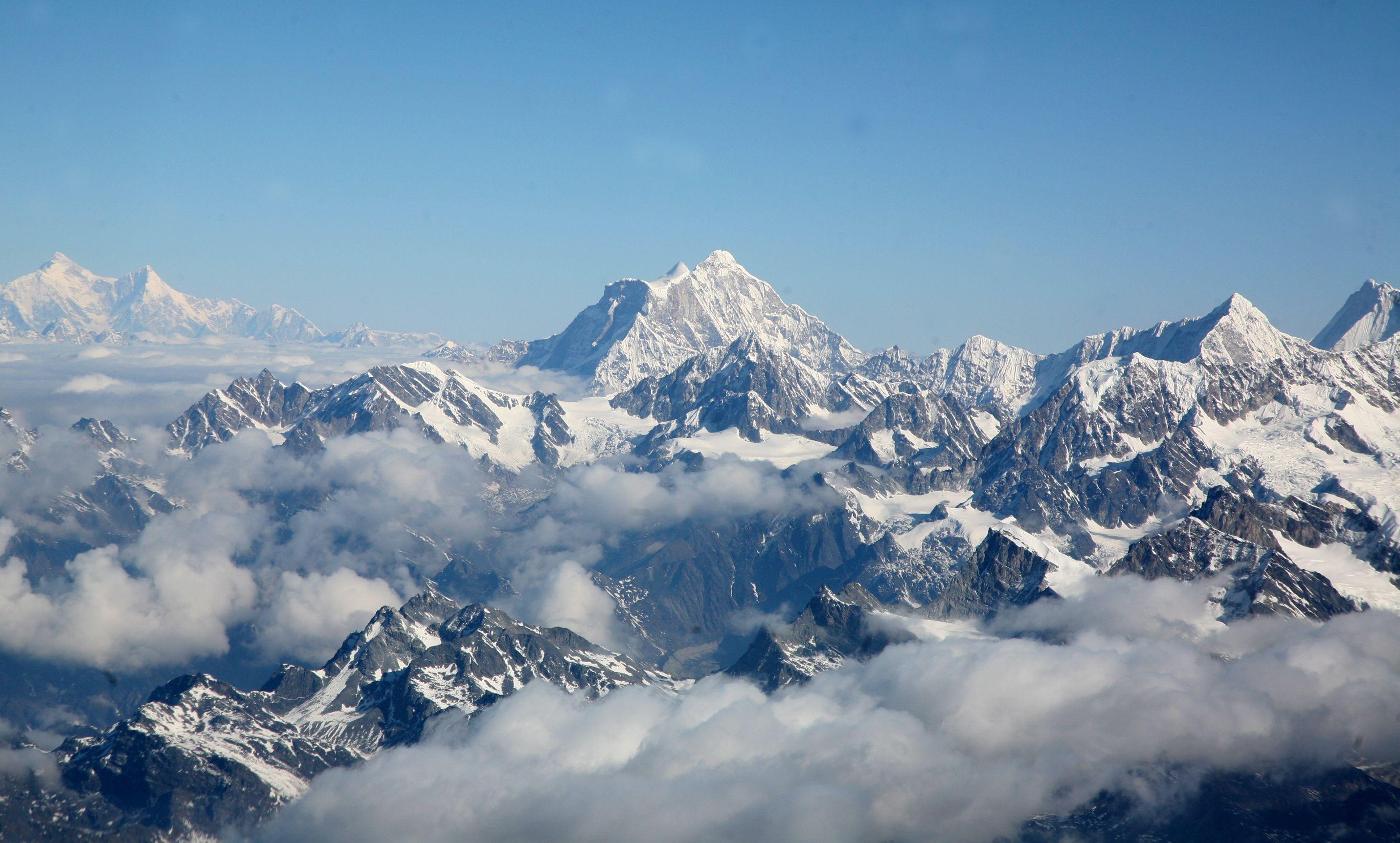 Himaláje z letu k Mt. Everestu