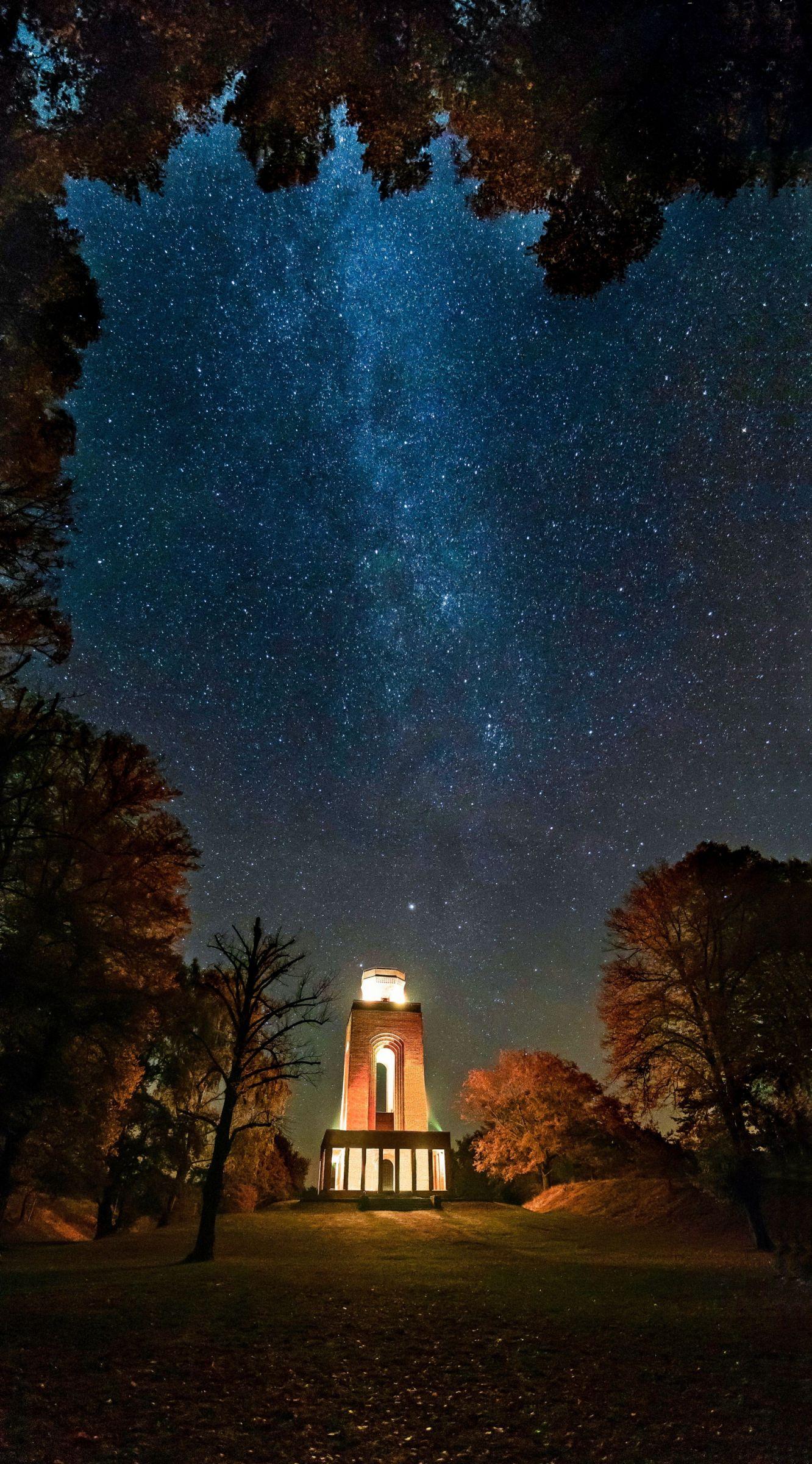 Die Milchstraße über dem Spreewald
